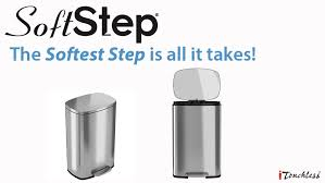 amazon com itouchless softstep 13 2 gallon stainless steel step