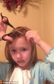 cut your own hair with clippers women video shows young girl attempting to cut her own hair for a