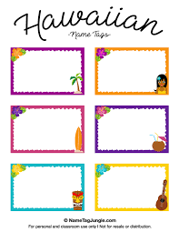printable name tags free printable hawaiian name tags the template can also be used