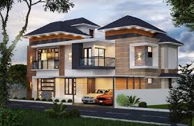 Sloping House Plans Western Style House Design With Sloping Roof Amazing