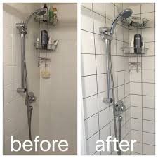 Regrout Bathroom Shower Tile Regrouting With Grey Grout To Modernise A Boring Shower
