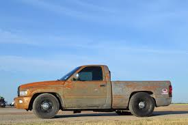 rusty pickup truck low budget 1994 dodge ram 2500 dragstrip brawler