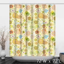 cute animals pattern print polyester shower curtain custom