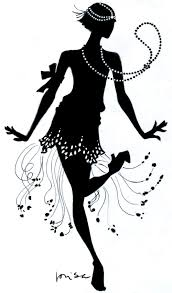 cocktail party silhouette download flapper dance clipart clip art pinterest flappers
