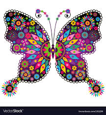 colorful butterfly royalty free vector image