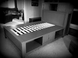 ana white platform bead board storage bed diy projects