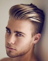 hair cut for men shaved on sides slicked back on top undercut hairstyle for men short hair