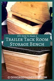 diy how to make a storage bench for your trailer tack room u2013 diy