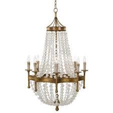 bead chandelier andrew design lighting frosted bead chandelier 16 1056
