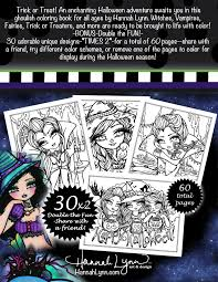 enchanted halloween whimsy girls fantasy coloring book