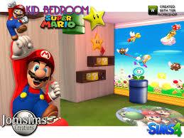 Mario Bros Bed Set Jomsims Mario Bedroom