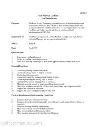 Job Description For Cashier For Resume by Example Resume For A Grocery Store Cashier Create Professional
