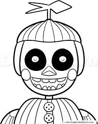fnaf mangle coloring pages phantom balloon boy phantom five nights at freddys fnaf coloring pages
