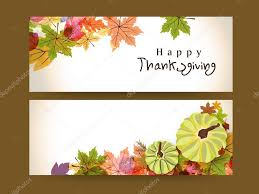 concept of happy thanksgiving header or banner stock vector