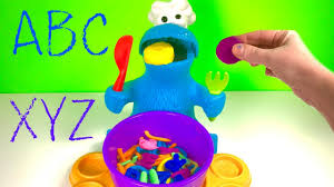 best learning colors and letters video for children play doh