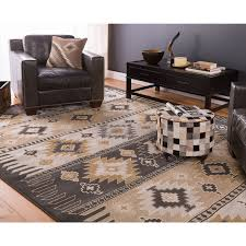 Black And Brown Area Rugs Meticulously Woven Black Grey Southwestern Aztec Nomad Area Rug 5