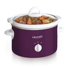 crock pot 2 5 quart manual slow cooker purple on crockpot com