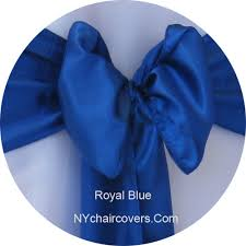royal blue chair sashes chair sashes satin sash rentals 0 75 ny chair covers