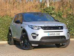 land rover silver land rover discovery sport 2 0 td4 180 hse black 5dr auto silver