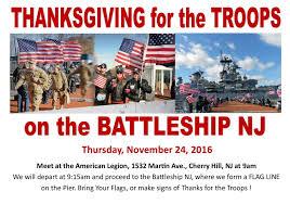 thanksgiving for the troops battleship nj american legion cherry