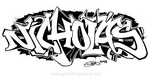 nicholas graffiti my name