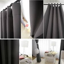 dark gray blackout curtain drapery panel