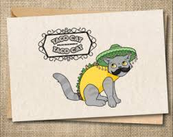 taco lover card etsy