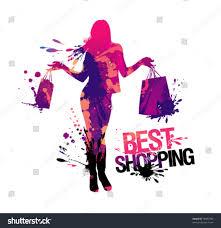 shopping silhouettebest shopping vector illustration stock