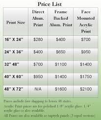 alum prices print sizes and prices