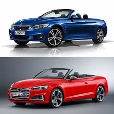 photo comparison audi a5 s5 cabriolet vs bmw 4 series convertible