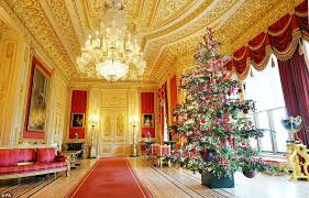 Royal Prince Decorations State Apartments At Windsor Castle Are Transformed For Christmas