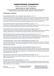 Sample Resume Objectives For Trades by Creative Director Resume Samples Free Resumes Tips