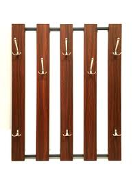 manufacturer unknown rosewood mid century modern wall coat rack