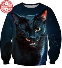 cat sweater black cat sweater aloha from deer