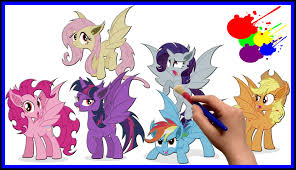 my little pony bat mane 6 coloring book for kids mlp