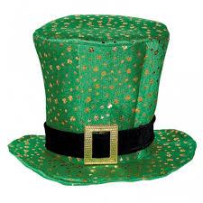 ireland green shamrock st patricks day irish fancy dress top hat