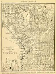 Maps Seattle Central Seattle Map 1937 Original Art Antique Maps U0026 Prints
