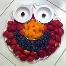 elmo fruit tray i u0027d put yogurt or white fruit dip in the little