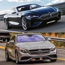 photo comparison bmw 8 series vs mercedes benz s class coupe