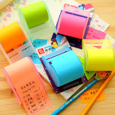 post it sur bureau papeterie kawaii choula néon notes sur papier collant simples notes