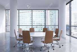 modern office conference table panoramic conference room in modern office in moscow russia
