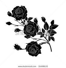 Black Rose Flower Black Rose Vector On White Stock Vector 98996375 Shutterstock
