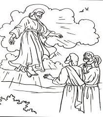 coloring page of jesus ascension ascension of jesus christ coloring pages thursday sunday school