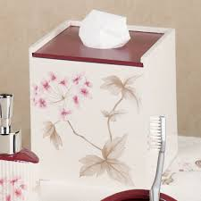 Cherry Blossom Home Decor Christina Red Cherry Blossom Bath Accessories By Croscill Cherry
