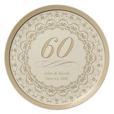 personalized anniversary plate personalized 60th anniversary plate zazzle
