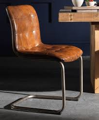 Metal Leg Dining Chairs Allegrodolomite 100 Italian Leather Dining Chair With Metal Leg