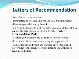 Guidance Counselor Brag Sheet Junior Planning Agenda Guidance