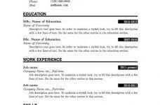 Blank Resume Templates For Microsoft Word Magnificent Ideas Free Blank Resume Templates For Microsoft Word