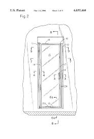 Shower Door Magnetic Strips by Patent Us6035460 Double Acting Shower Door System With Spring