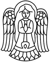93 simple angel coloring simple christmas tree pattern
